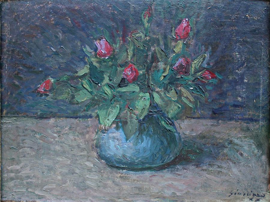 Manlio Giarrizzo vaso di fiori