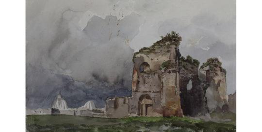 11 Pietro Sassi rudere alle Terme di Traiano