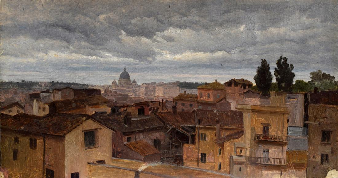 3 pietro Sassi Roma dal mio terrazzino
