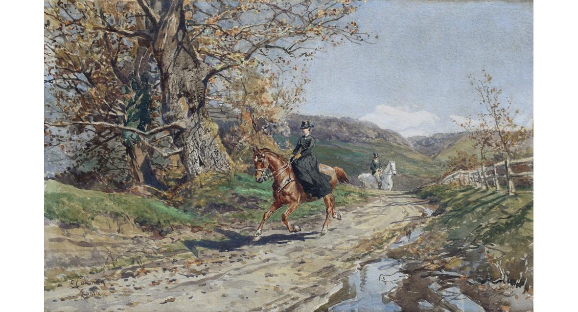 enrico coleman passeggiata a cavallo