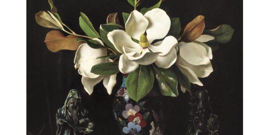 bruno_croatto_vaso_orientale_e_magnolie