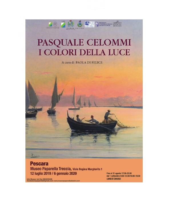 La locandina della mostra pescarese dedicata a Pasquale Celommi