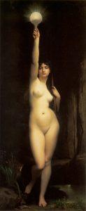 Il quadro (del 1870) di Jules Lefebvre dal titolo La Vérité