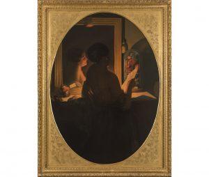 Jan Baptist Lodewyck Maes-Canini (Gand 1794 – Roma 1856), (attr. a), Il camerino dell'attrice